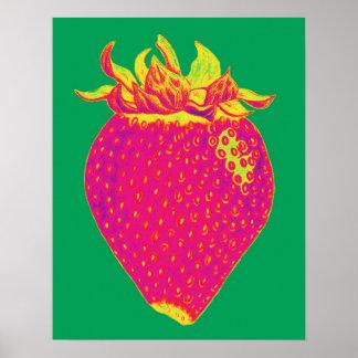 Pop art Strawberry Print