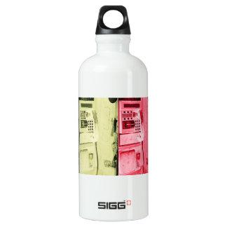 pop art street phone aluminum water bottle