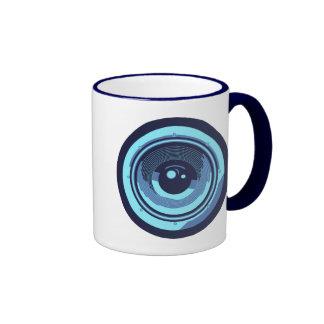 Pop Art Style Audio Speaker Ringer Coffee Mug