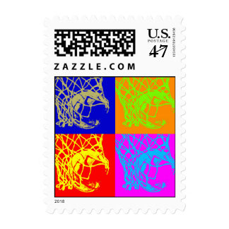 Pop Art Style Basketball Postage