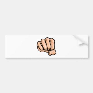Pop Art Style Cartoon Fist Bumper Sticker