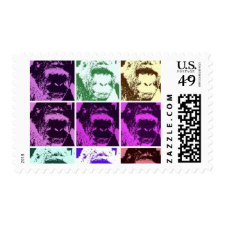 Pop Art Style Gorillas Postage Stamps