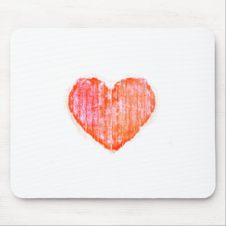 Pop Art Style Grunge Graphic Heart Mouse Pad