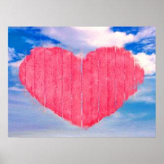 Pop Art Style Love Concept Poster