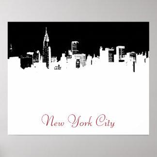 Pop Art Style New York City Script Poster