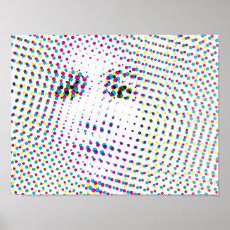 Pop Art Style Portrait Poster