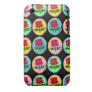 Pop Art style roses pattern Case-Mate iPhone 3 Case
