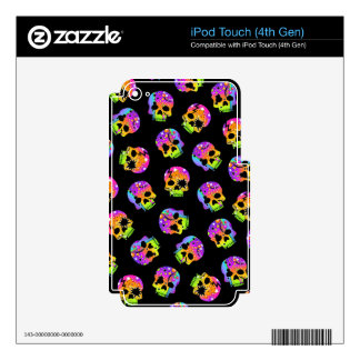 Pop Art Style SKULLS iPAD TOUCH SKIN Skin For iPod Touch 4G