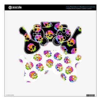 Pop Art Style SKULLS PlayStation 3 SKIN Skins For PS3 Controllers