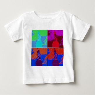 Pop Art Style Statue of Liberty Baby T-Shirt
