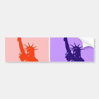 Pop Art Style Statue of Liberty Bumper Stickers