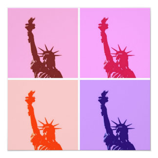 Pop Art Style Statue of Liberty Invitation