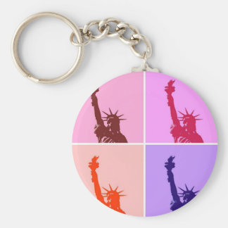 Pop Art Style Statue of Liberty Keychain