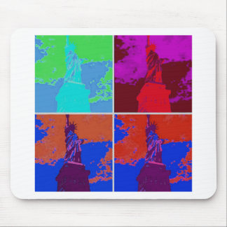 Pop Art Style Statue of Liberty Mouse Pad