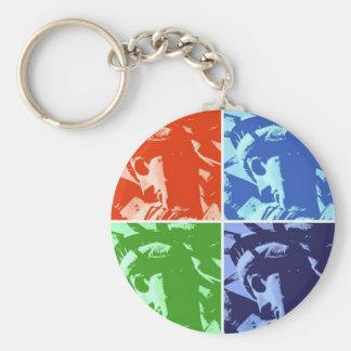 Pop Art Style Statue of Liberty New York Basic Round Button Keychain