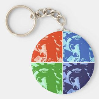 Pop Art Style Statue of Liberty New York Keychain