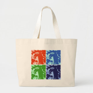 Pop Art Style Statue of Liberty New York Large Tote Bag