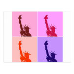 Pop Art Style Statue of Liberty Post Card