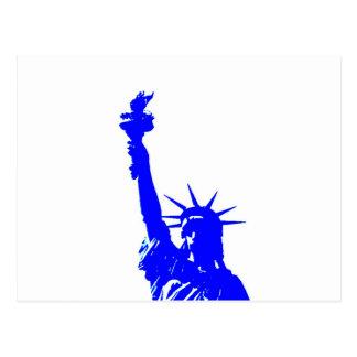 Pop Art Style Statue of Liberty Postcard