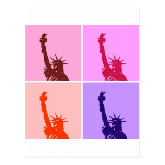 Pop Art Style Statue of Liberty Postcard