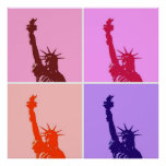 Pop Art Style Statue of Liberty Poster