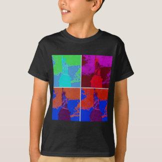 Pop Art Style Statue of Liberty T-Shirt