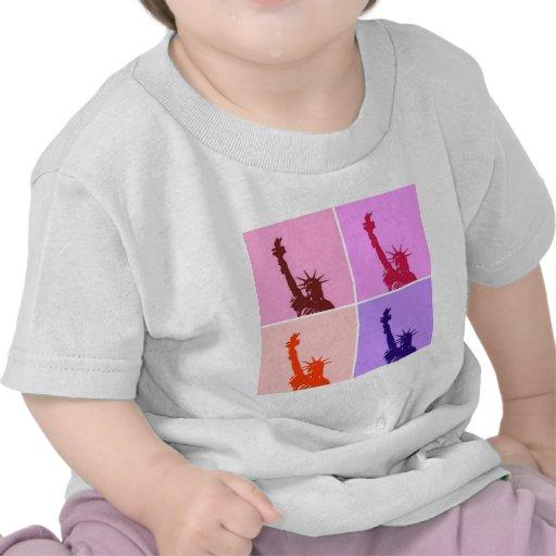 Pop Art Style Statue of Liberty Tee Shirts