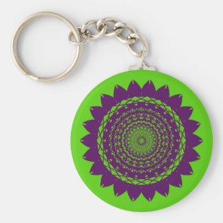 """Pop Art """"Sunflower"""" Vector Basic Round Button Keychain"""
