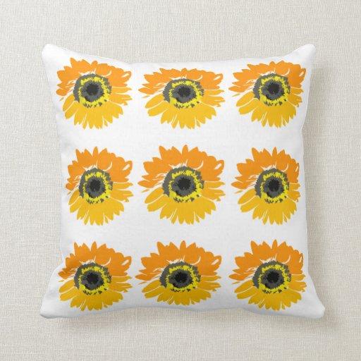 Pop Art Sunflowers Decorative Throw Pillow Zazzle