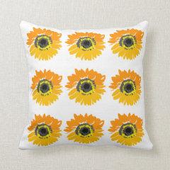 Pop Art Sunflowers Decorative Throw Pillow