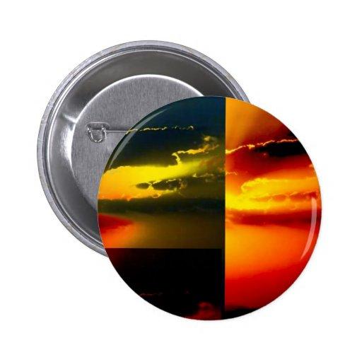 Pop Art Sunset Pinback Button