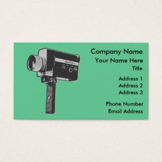 Pop Art Super 8 Movie Camera Business Card