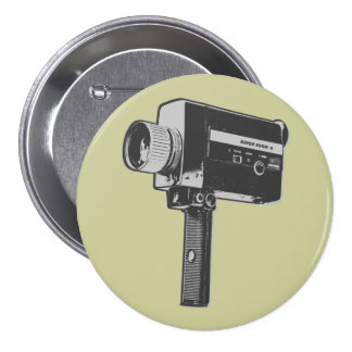 Pop Art Super 8 Movie Camera Button