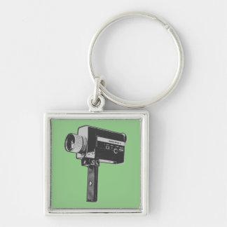Pop Art Super 8 Movie Camera Keychain
