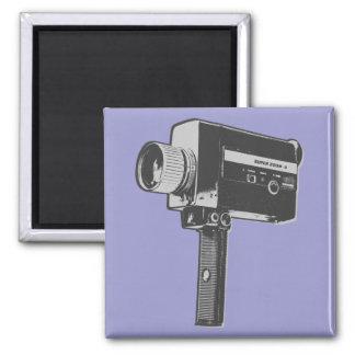 Pop Art Super 8 Movie Camera Magnet