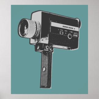 Pop Art Super 8 Movie Camera Poster