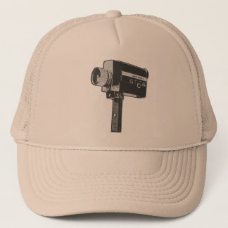 Pop Art Super 8 Movie Camera Trucker Hat