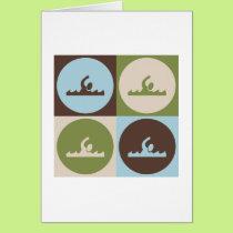 Pop Art Swimming Card