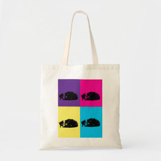 Pop Art Tabby Cat 002 Budget Tote Bag