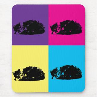 Pop Art Tabby Cat 002 Mouse Pad