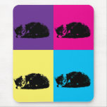 Pop Art Tabby Cat 002 Mousepad