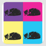 Pop Art Tabby Cat 002 Sticker