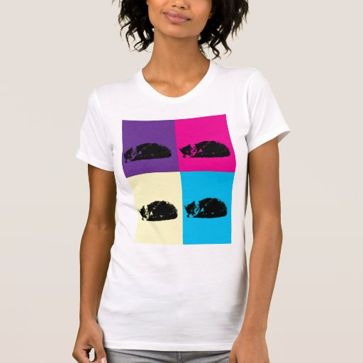 Pop Art Tabby Cat 002 T-shirts