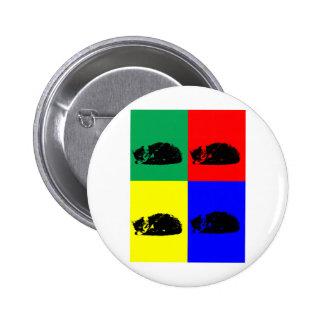 Pop Art Tabby Cat 2 Inch Round Button