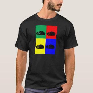 Pop Art Tabby Cat Dark T-shirt