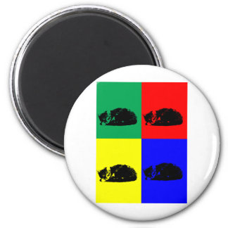 Pop Art Tabby Cat Magnet