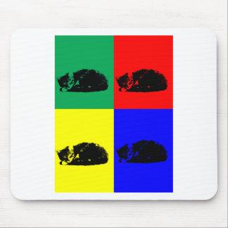 Pop Art Tabby Cat Mouse Pad