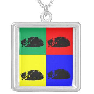 Pop Art Tabby Cat Necklace