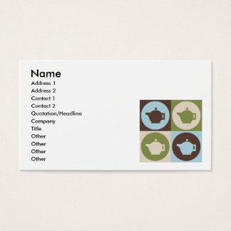Pop Art Tea Business Card