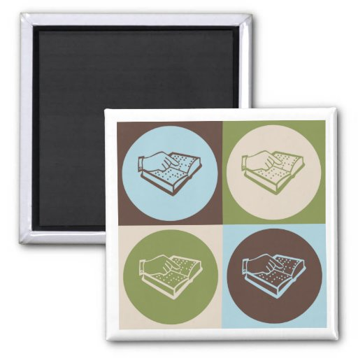 Pop Art Teaching the Visually Impaired 2 Inch Square Magnet